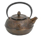 Tea enterprise - Imperial dragon cast iron teapot ...