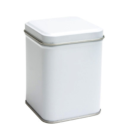 White Tin Canister 3 4 Oz 5 6 Oz